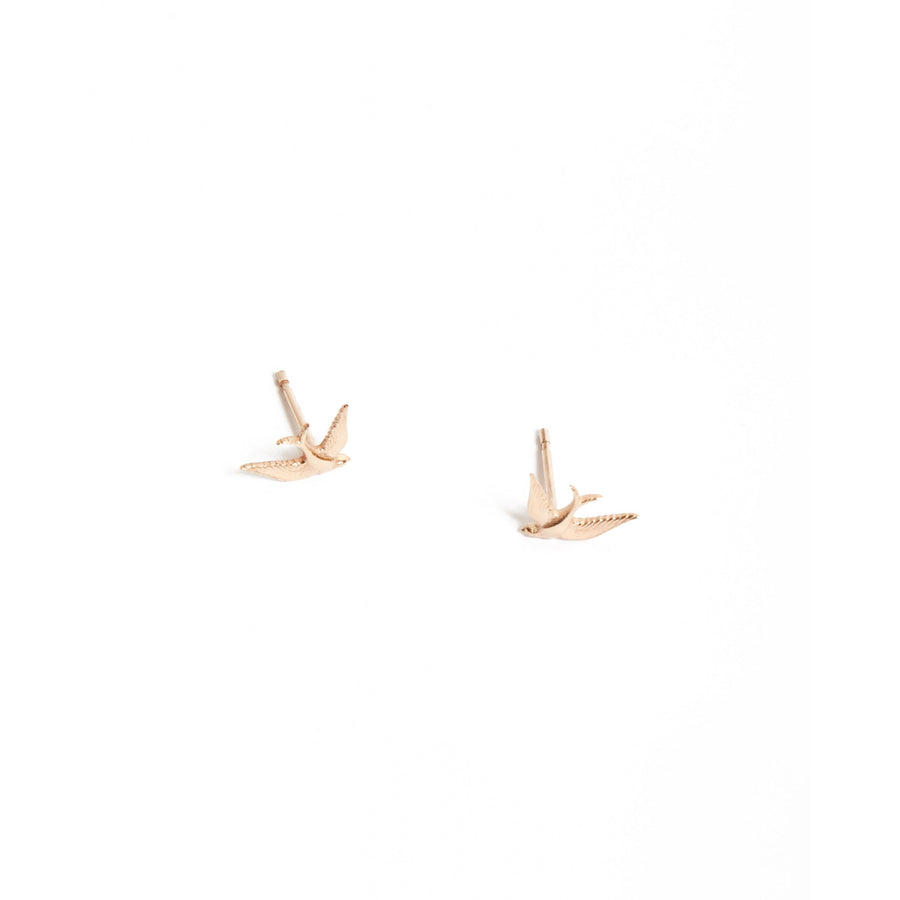 Bluebird Stud - 9ct Rose Gold