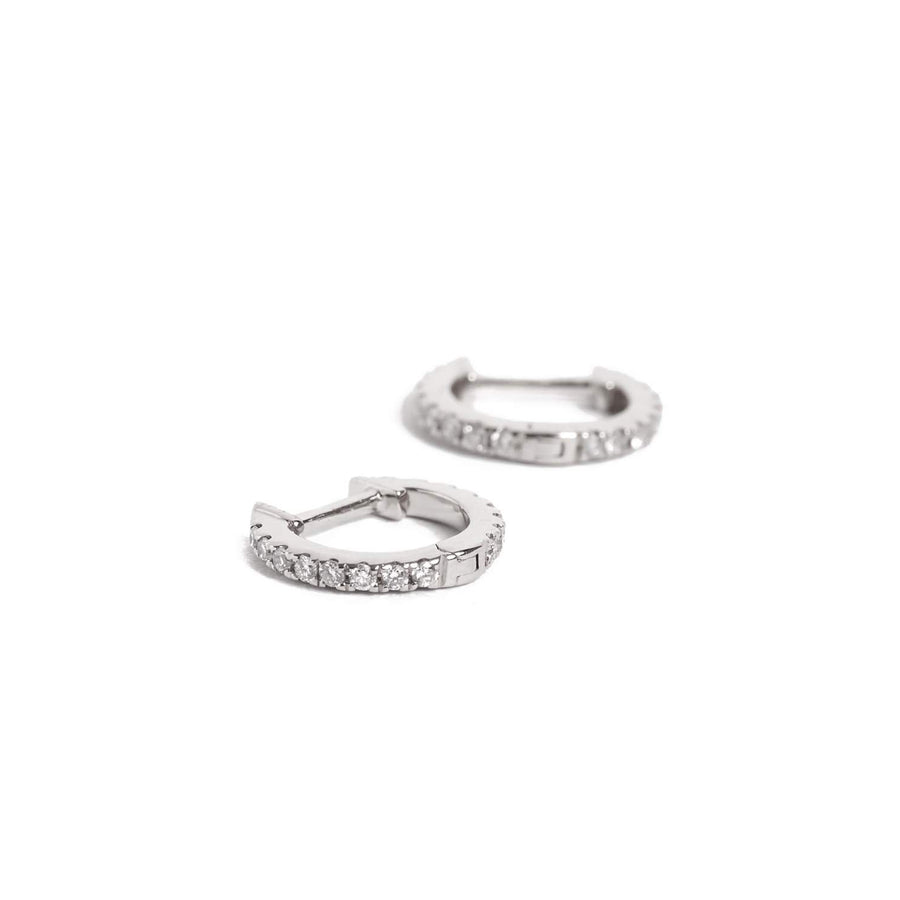 Diamond Huggie Small - 14ct White Gold