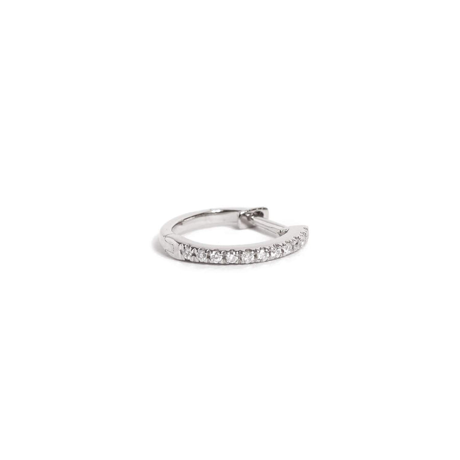 Diamond Huggie Medium - 14ct White Gold
