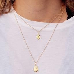 Miraculous Necklace Oval 14mm - 9ct Gold