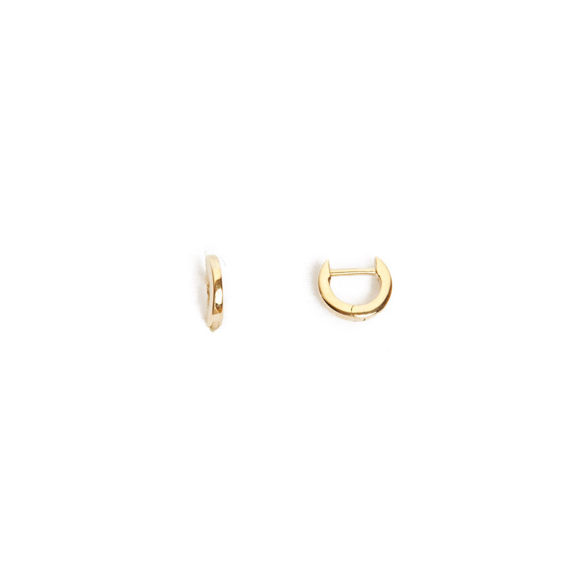 Square Huggie Extra Small - 9ct Gold