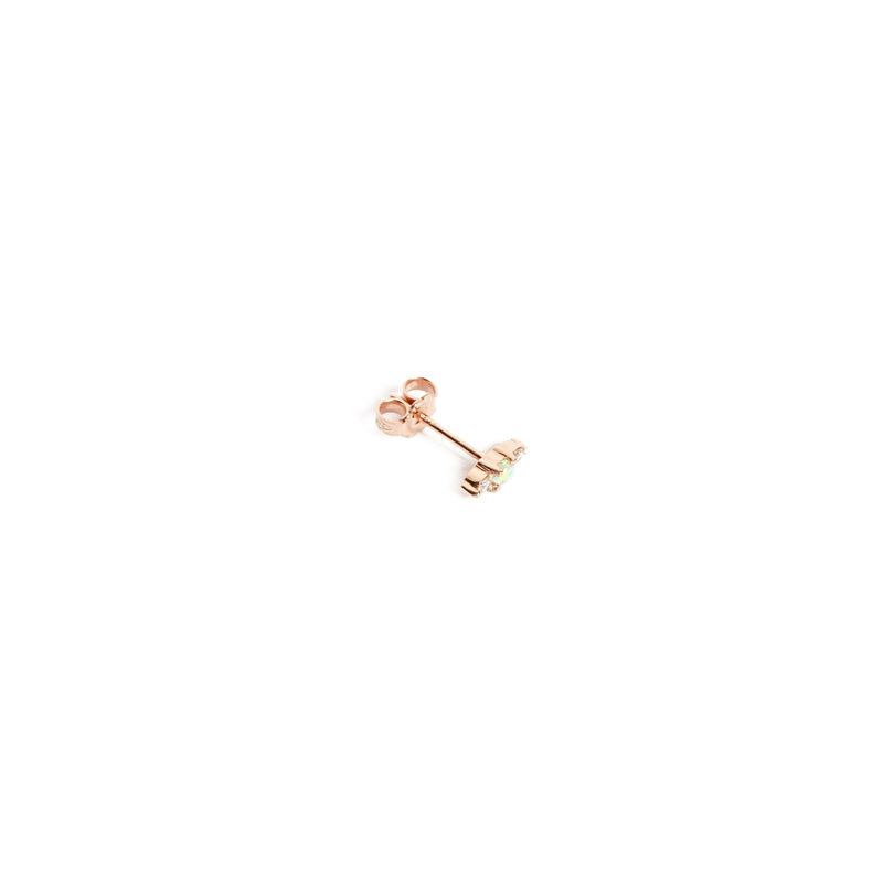 Jupiter Opal & Diamond Stud - 9ct Rose Gold