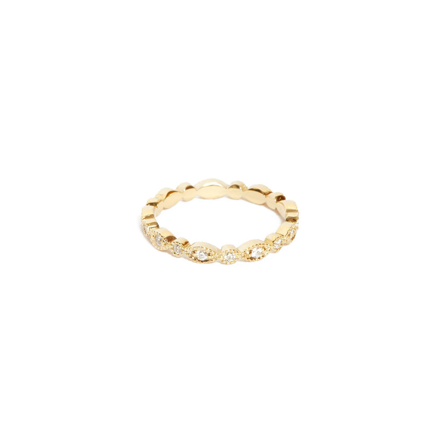 Lotus Diamond Ring - 14ct Gold