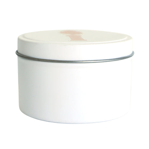 white Candle Tin
