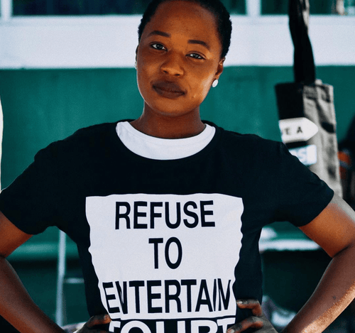 Refuse to Entertain Doubt, 100% Combed Cotton T-Shirt T-shirts Your Inspiration Platform 8 Black