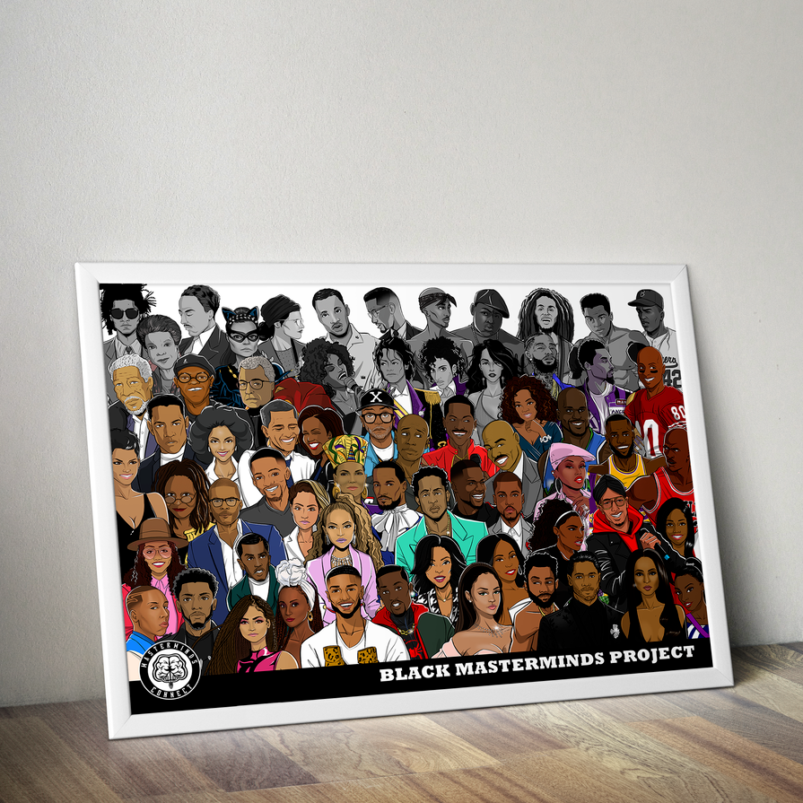 BLACK MASTERMINDS PROJECT VOL. 2 Art Print
