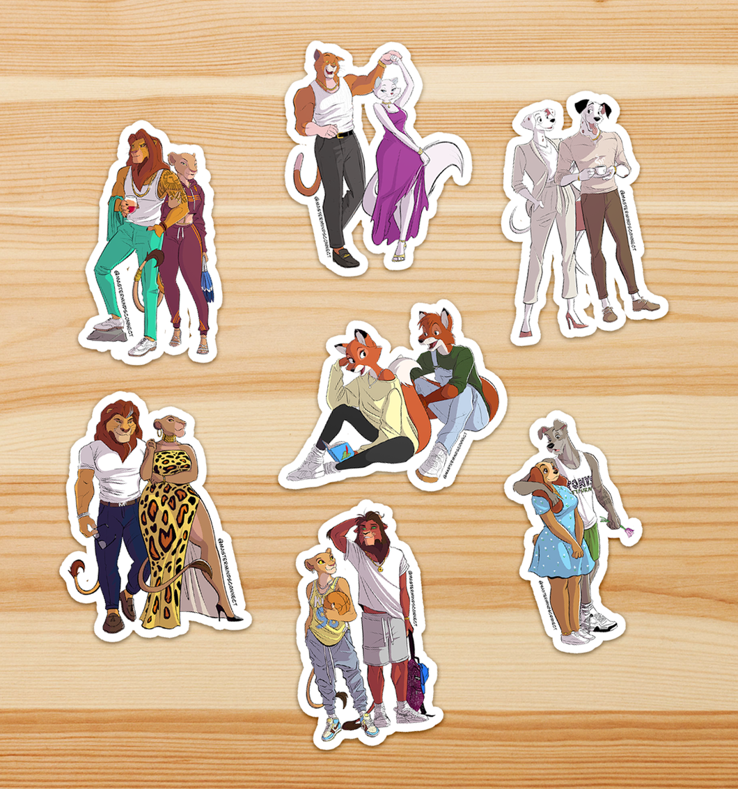 Pridelands Couples Sticker Pack