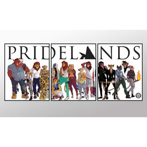 PRIDELANDS 3 PANEL ART PRINT