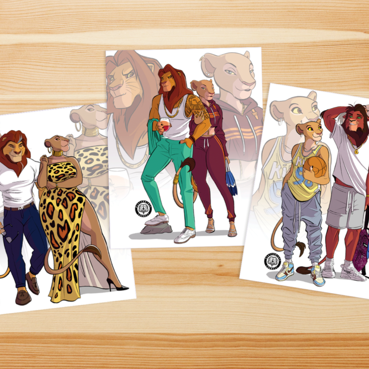 ROYAL LION COUPLES Art Print