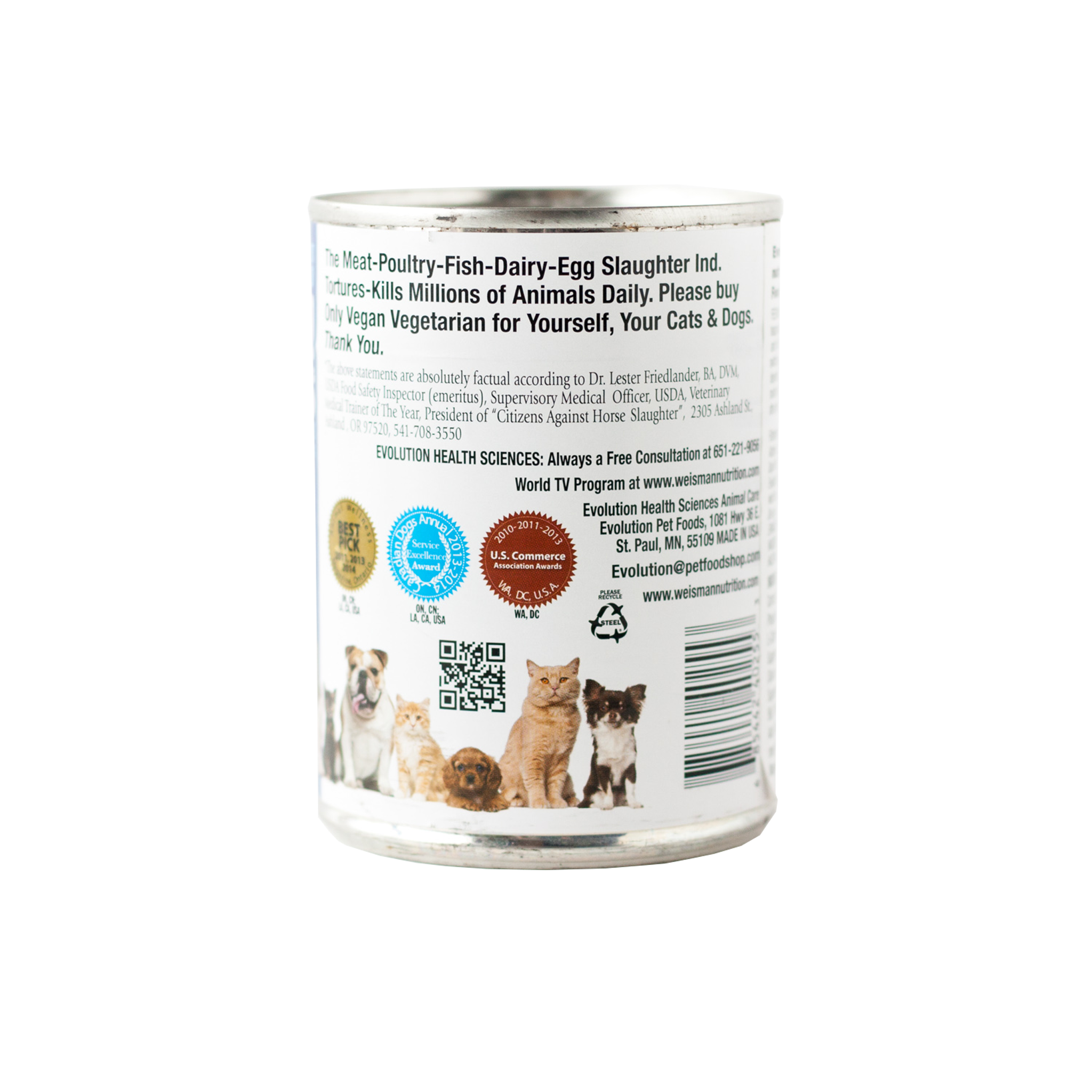 Gourmet Fortified CAT & DOG Moist Food  (12 cans)