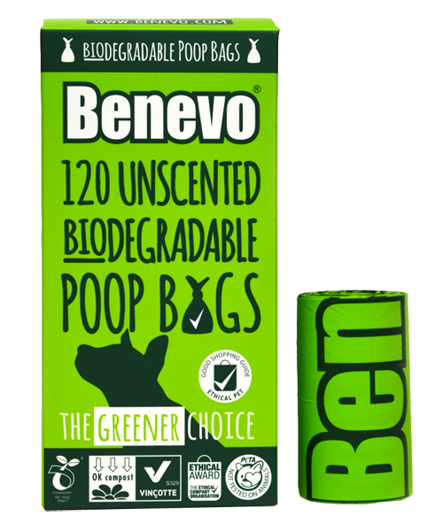 Benevo Biodegradable Poop Bags - 120 bags