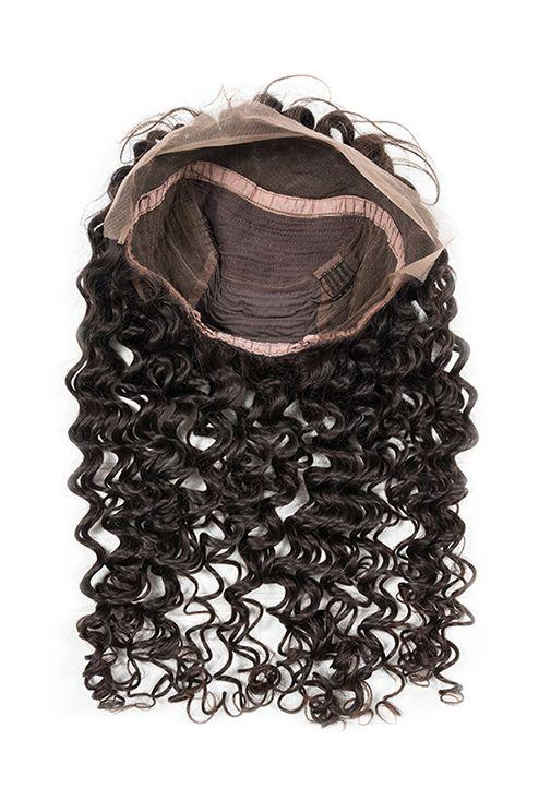 Virgin Brazilian Curly Lace Front Wig - carevirginhair
