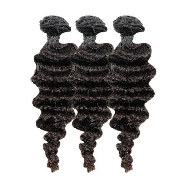 3 Brazilian Deep Wave Bundles with Frontal(different sizes) - carevirginhair