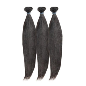 3 Brazilian Straight Bundles(different sizes) - carevirginhair