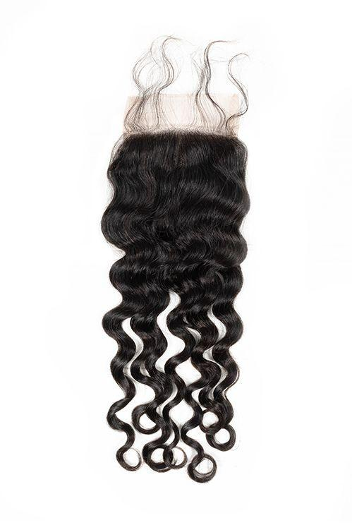 Virgin Brazilian Deep Wave Lace Closure - carevirginhair