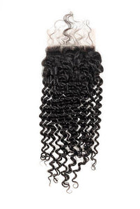 Virgin Brazilian Curly Lace Closure - carevirginhair