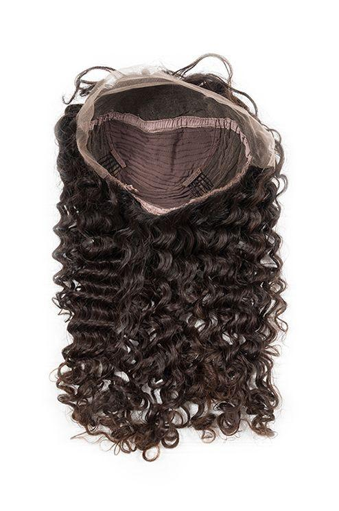 Virgin Brazilian Deep Wave Lace Front Wig - carevirginhair