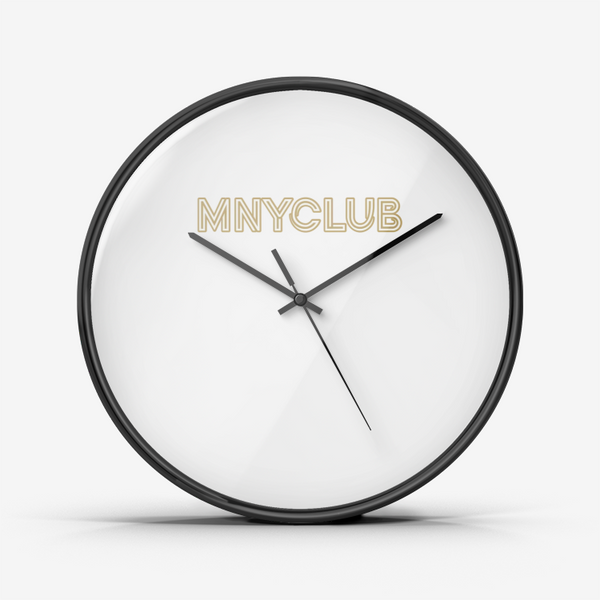 MNYCLUB Silent, Non-Ticking Quartz Wall Clock