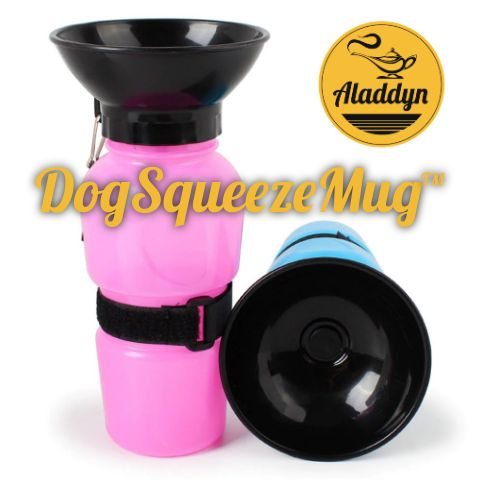 DogSqueezeMug™ 500ml, Portable Dog Water Dispenser Bottle
