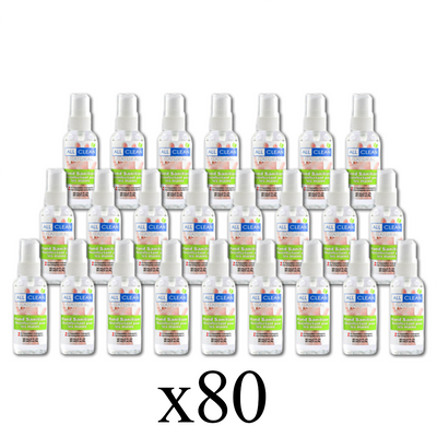 Case - All Clean 60 mL Spray Bottle Sanitizer - Case of 80 Bottles-Western Mask and Protective Equipment Inc