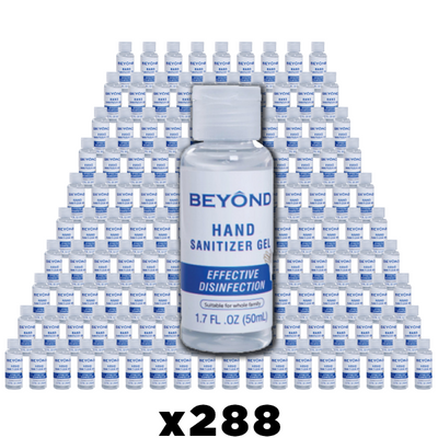Case - Beyond 50 mL Hand Sanitizer - Case of 288 Bottles-Western Mask and Protective Equipment Inc