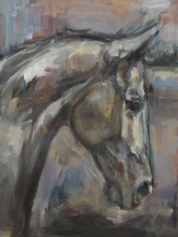 The Kind & Gentle Gelding - painting on canvas