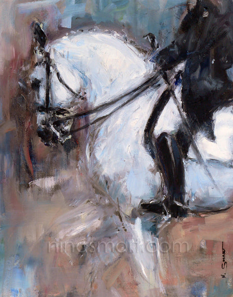 Elite Dressage, Oil on Canvas 11 x 14""