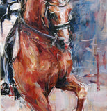 "Dressage Horse in Pirouette, 10 x 20"" Canvas"