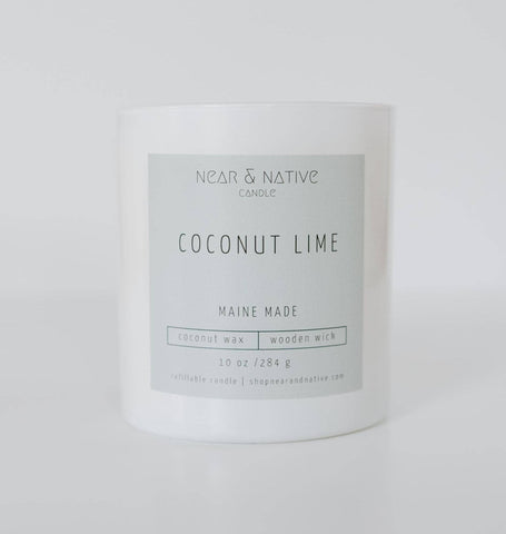 10 oz Coconut Lime Wood Wick Candle