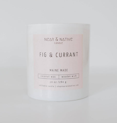 10 oz Fig and Current Wood Wick Candle