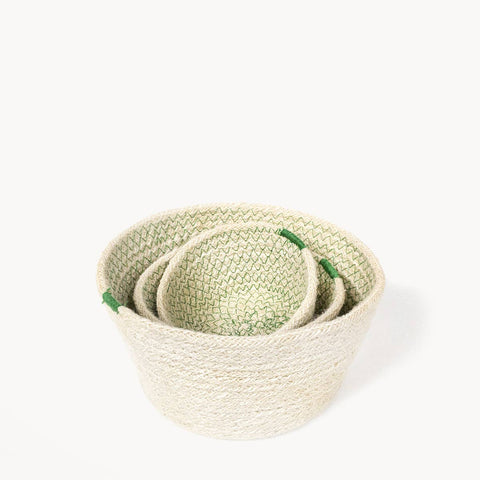 Amari Bowl - Green (Set of 3)