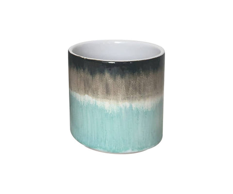 "5.25"" Calle Reactive Flower Pot - Turquoise"