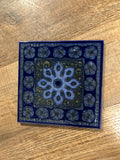 2 piece hand painted tile trivet