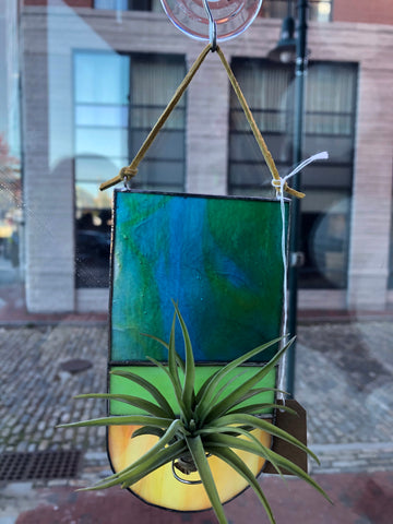 Stained glass air plant hangings