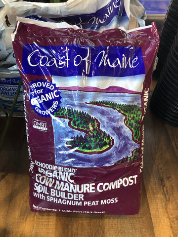 Coast of Maine Cow Manure Compost Soil Builder, Schoodic blend