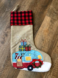 Christmas stockings in assorted colors and styles