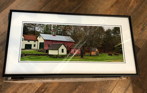 "10"" x 20"" framed matted print"