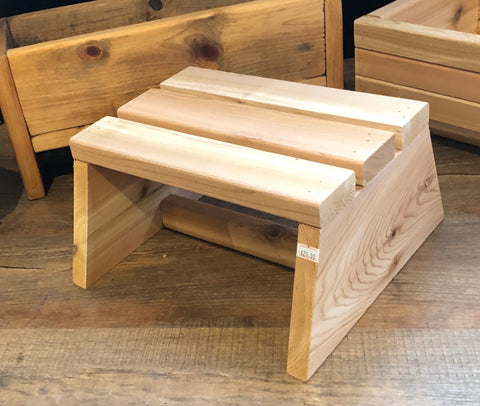 Hand crafted pine step stool/plant stand by Artisan: Carl Croce, Woodworker of Westbrook