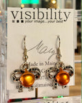 Hand crafted earrings by Mary Greely of Visibility