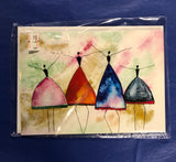 Note cards with original watercolor designs by Artisan: Susan Selbe