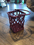 Tall Woven basket recycled