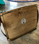 Barrel serving tray hand crafted by Artisan: Joe Rokowski