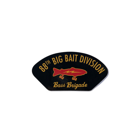 "88th Big Bait Division 4""×2"" Sticker - Black"