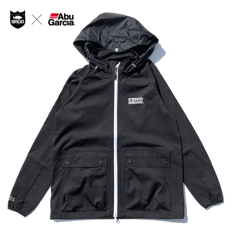Abu Garcia x BASS BRIGADE Water Resistant Jacket - Black/White