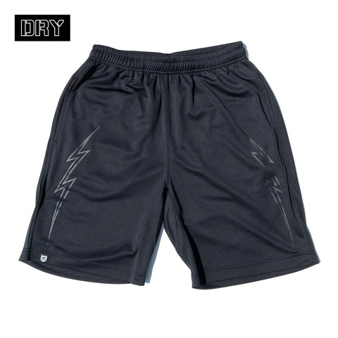 BRGD Bolt Outline Dry Shorts - Black/Black