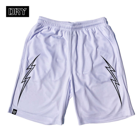 BRGD Bolt Outline Dry Shorts - White/Black