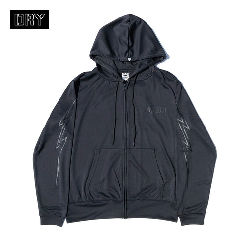 BRGD Bolt Outline Dry Zip Hoodie - Black/Black
