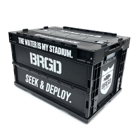 BASS BRIGADE FOLDING CONTAINER - BLACK/WHITE [最大4点まで]