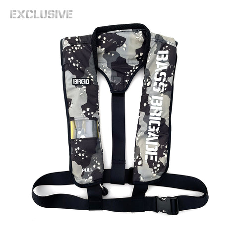 BASS BRIGADE LIFE JACKET Ⅱ - Lake Camo Black [EXCLUSIVE]