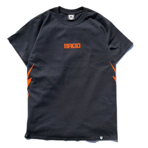 BRGD Bolt Tee - Black/Orange